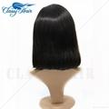 Straight Unprocessed Full Lace Human Hair Short Bob Wigs 4