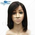 Straight Unprocessed Full Lace Human Hair Short Bob Wigs 5