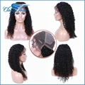 Curly Virgin Hair Full Lace Wigs Lace Front Wigs with Baby Hair For Black Women 1