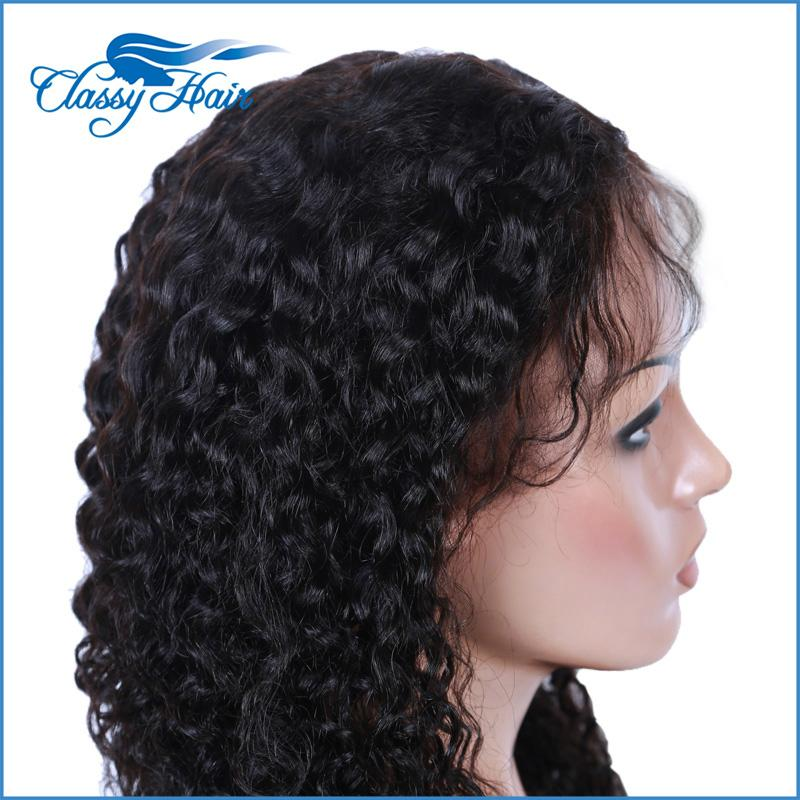 Curly Virgin Hair Full Lace Wigs Lace Front Wigs with Baby Hair For Black Women 3