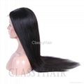 Unprocessed Straight Brazilian Full Lace Human Hair Wigs with Baby Hair 1