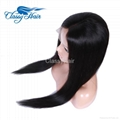 Unprocessed Straight Brazilian Full Lace Human Hair Wigs with Baby Hair 2