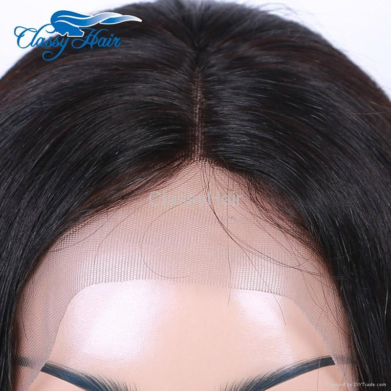 Unprocessed Straight Brazilian Full Lace Human Hair Wigs with Baby Hair 4