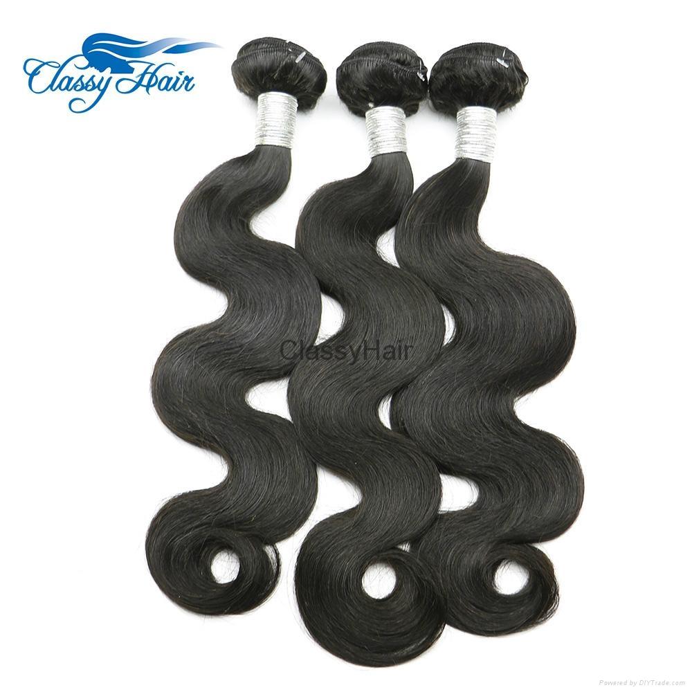 Unprocessed Body wave Brazilian Virgin Human Hair Weaving Bundles In large stock 1