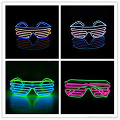 high brightness EL wire glasses for party halloween Chirstmas