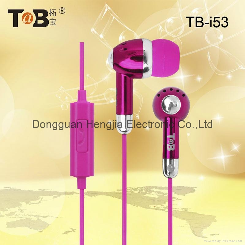 Earphone in-ear earbuds  with noise canceling and mic for  Iphone Android Window 2