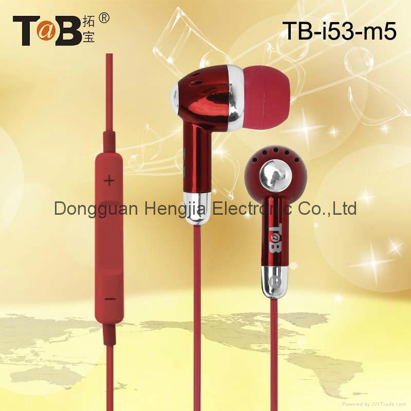Earphone in-ear earbuds  with noise canceling and mic for  Iphone Android Window 4