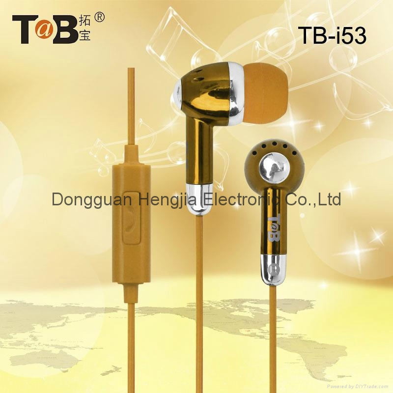 Earphone in-ear earbuds  with noise canceling and mic for  Iphone Android Window 5