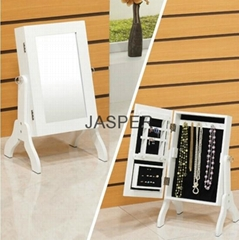 Wooden MINI TABLE MIRROR JEWELLRY CABINET