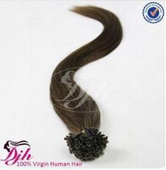 remy  human keratin nail u tip hair extention