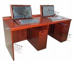 優質產品TKLK-04實木油漆 電腦桌面翻轉電腦桌