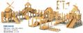 outdoor playground amusement wooden slides 3