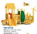 outdoor playground amusement wooden slides 4