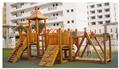 outdoor playground amusement wooden slides 5