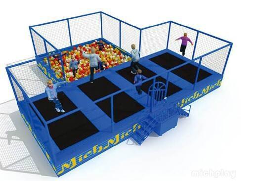 Outdoor playground New design trampoline and outward bound 3