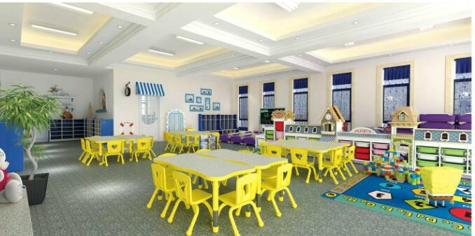 Indoor playground Kids furniture chairs and tables 1