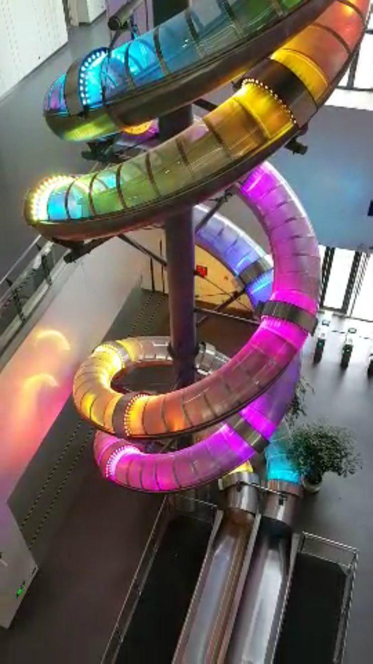 Staniness steel slide,mall steel slide and escaping slide 4