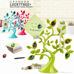 Creative lucky tree ladybug magnet refrigerator and more magnetic stickers stone