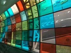 深圳玻璃贴膜商场酒吧大厦装饰膜