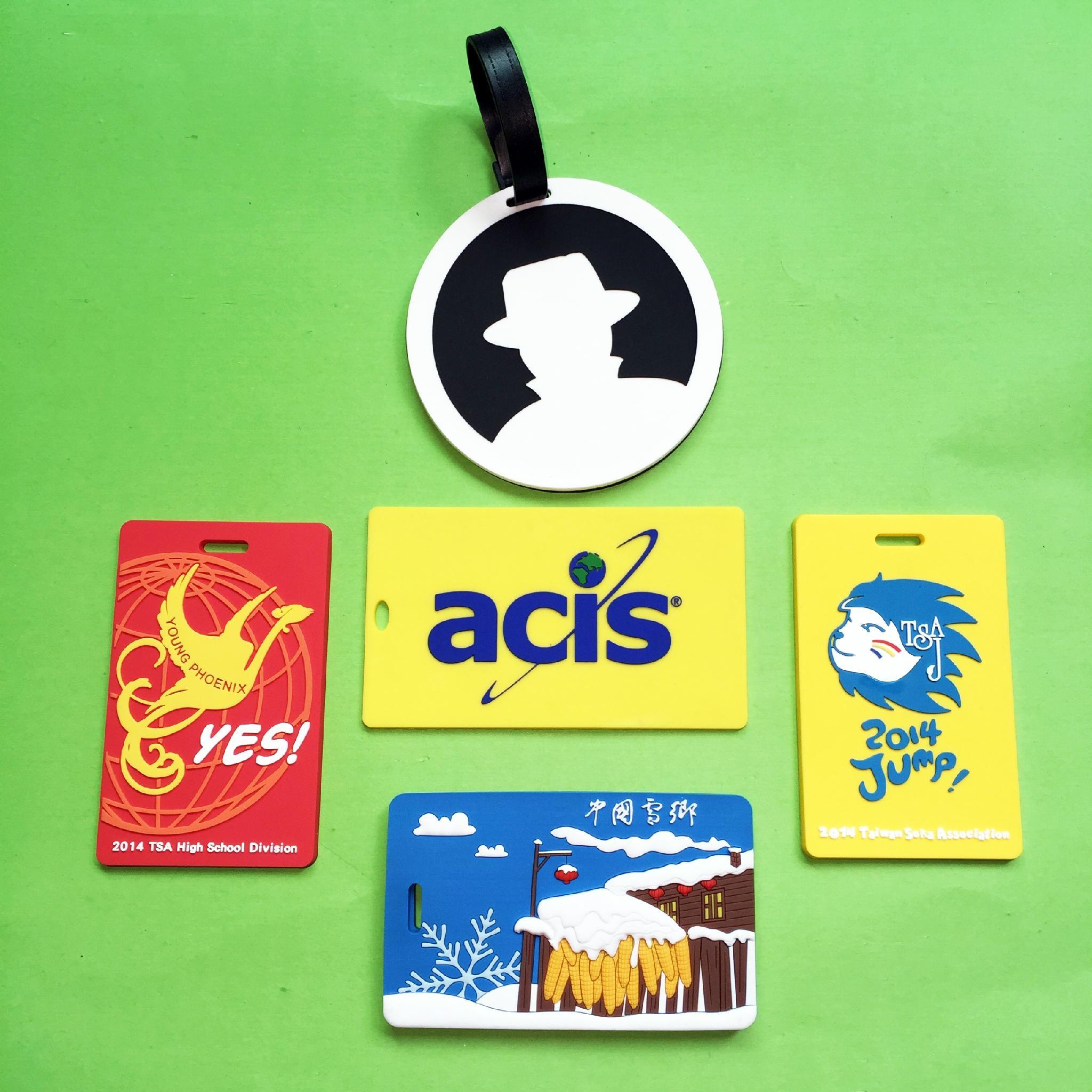 专业生产定做pvc行李牌 PVC软胶行李牌登机牌环保PVC行李牌 4