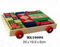 colorful wooden jenga, tangram puzzle 2