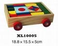 colorful wooden jenga, tangram puzzle 4