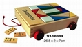 colorful wooden jenga, tangram puzzle
