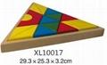 colorful wooden jenga, tangram puzzle 12