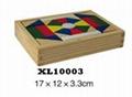 colorful wooden jenga, tangram puzzle 14