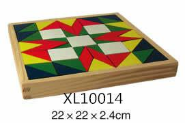 colorful wooden jenga, tangram puzzle 17