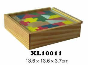 colorful wooden jenga, tangram puzzle 18