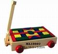 colorful wooden jenga, tangram puzzle