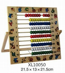 Wholesale Toys Kids Learning Developmental Versatile alphabet Abacus Wooden Toys