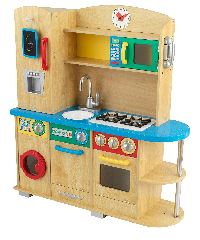 Wooden Kids Kitchen Play Set Toy