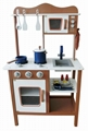 wooden kids kitchen play set toy