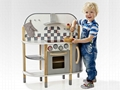 2016 hot sale modern wooden kitchen play set toy
