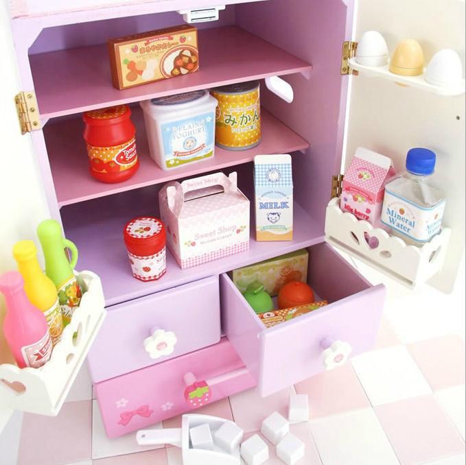 Wholesale childen play wooden toy kitchen  3