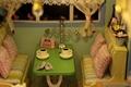 Kitchen pretend playset wooden tea set toy with cakes