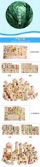 Kids toys wooden kitchen play set