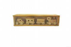 木製玩具三節火車