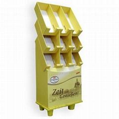 Custom Printed Corrugated Eco-Friendly Cardboard Paper Display Shelf Stand Rack