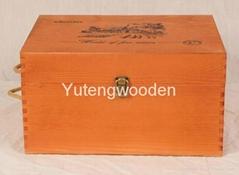 six bottel wooden wine box