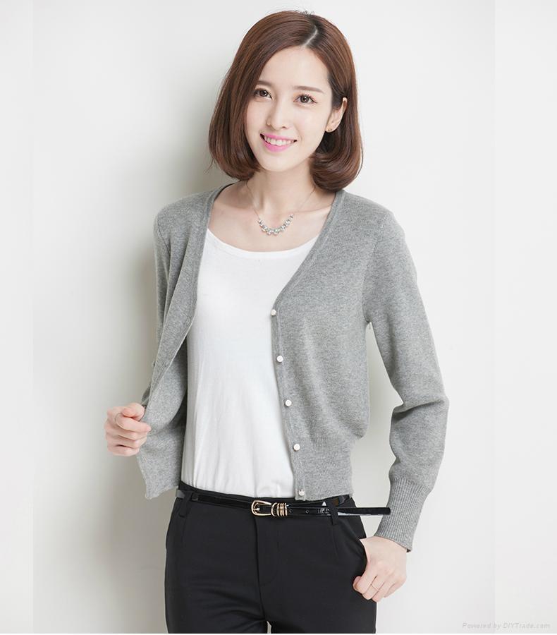 Women's Long Sleeve Knitwear Cardigan Sweater 1