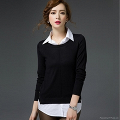 women pullovers cashmere long sleeve sweater