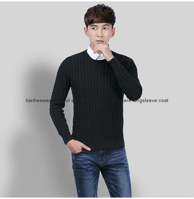 New men sweater pullovers warm knitwear  2