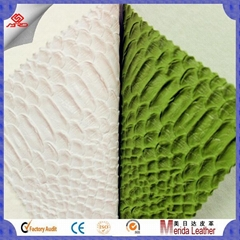 wholesale scale pattern pvc faux embossed leather fabric for making bags