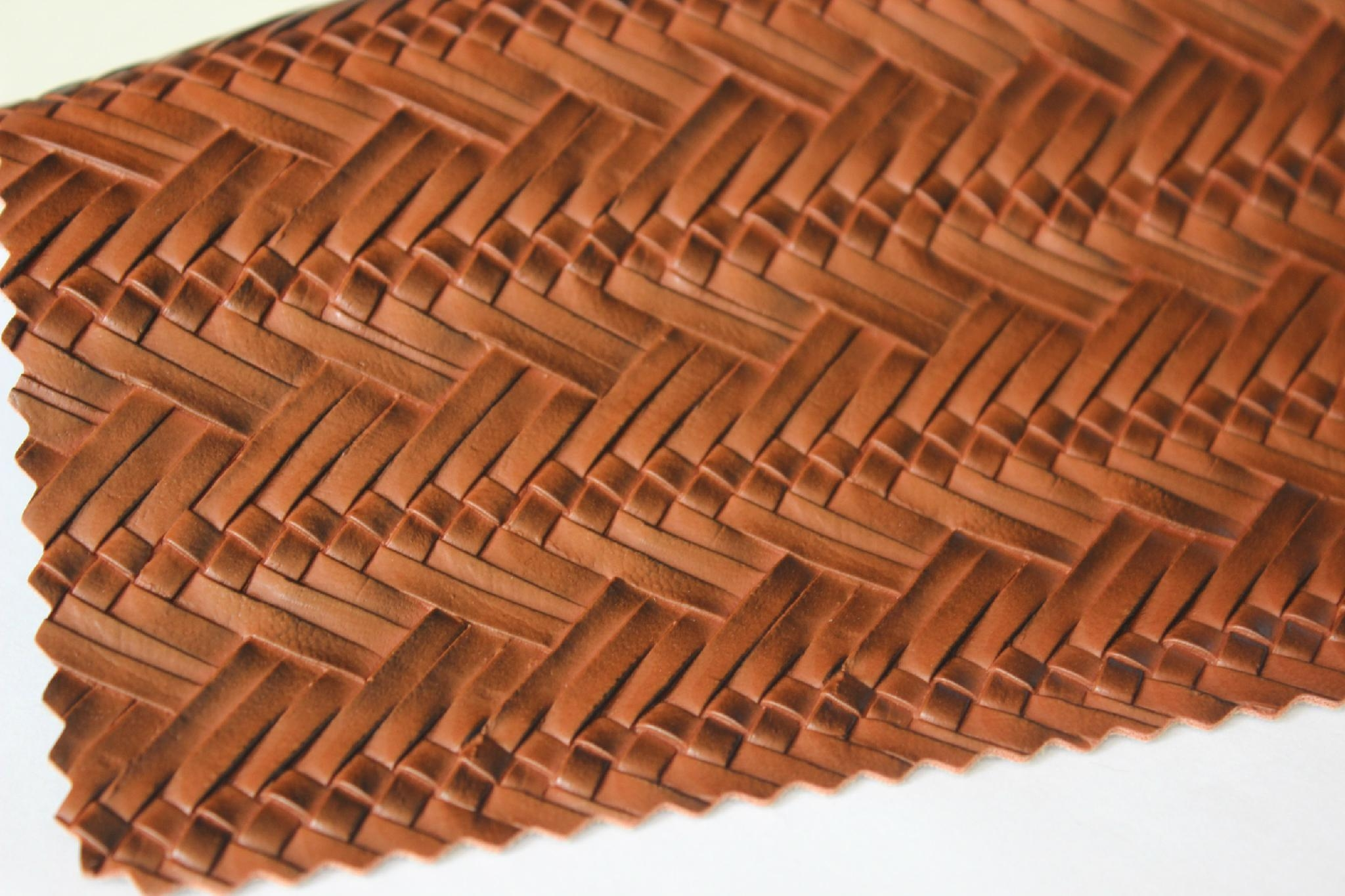 Guangzhou hot selling woven pattern pvc embossed leather fabric for making bags 1