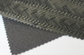 Guangzhou hot selling woven pattern pvc embossed leather fabric for making bags 2