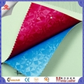 3d vision design pvc artificial leather fabric for making bags ,interior  2