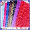 3d vision design pvc artificial leather fabric for making bags ,interior  1